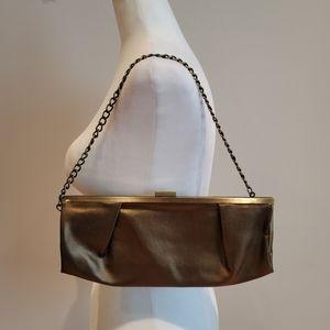 Bronze Chain Clutch Shoulder Bag